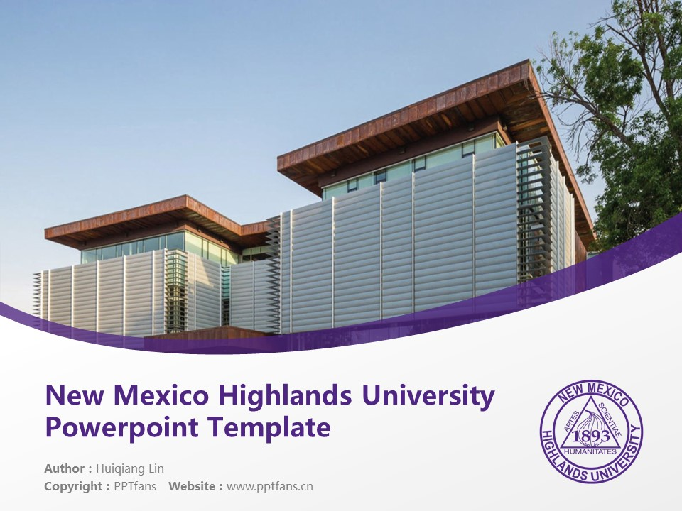 New Mexico Highlands University Powerpoint Template Download | 新墨西哥高地大学PPT模板下载_幻灯片预览图1
