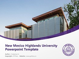New Mexico Highlands University Powerpoint Template Download | 新墨西哥高地大學PPT模板下載