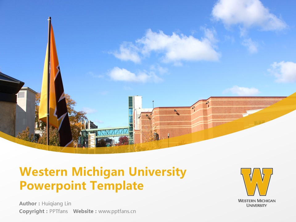 Western Michigan University Powerpoint Template Download | 西密歇根大学PPT模板下载_幻灯片1
