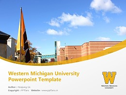 Western Michigan University Powerpoint Template Download | 西密歇根大學PPT模板下載