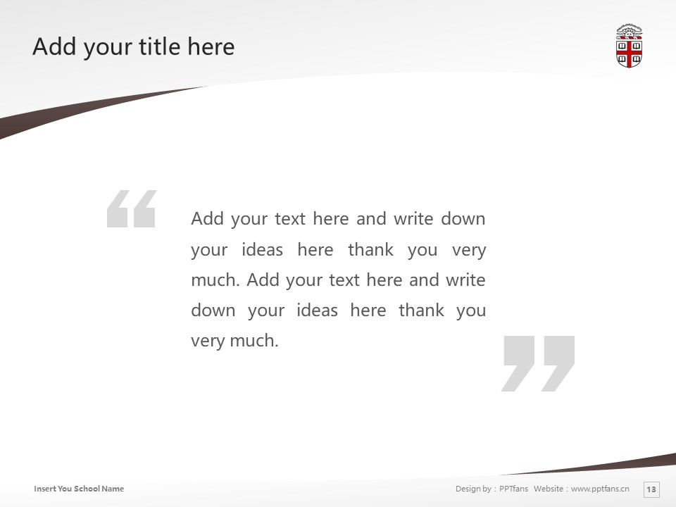 Brown University Powerpoint Template Download | 布朗大学PPT模板下载_slide13