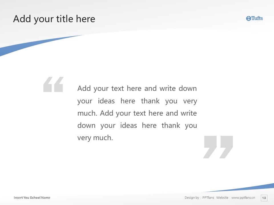Tufts University Powerpoint Template Download | 塔夫茨大学PPT模板下载_slide13