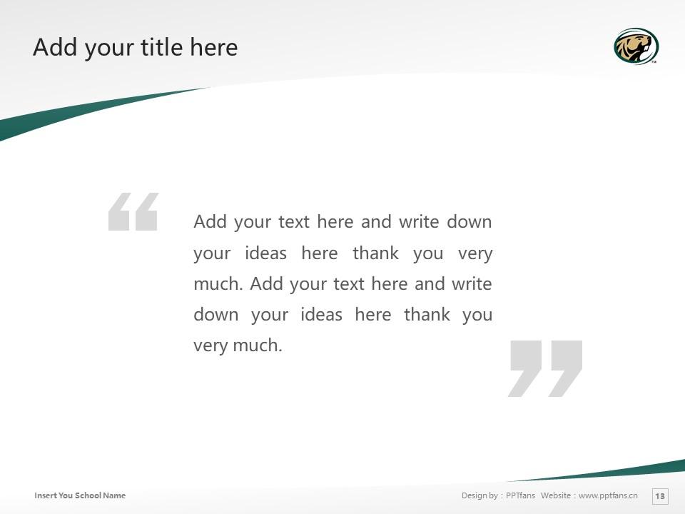 Bemidji State University Powerpoint Template Download | 明尼苏达州伯米吉州立大学PPT模板下载_slide13