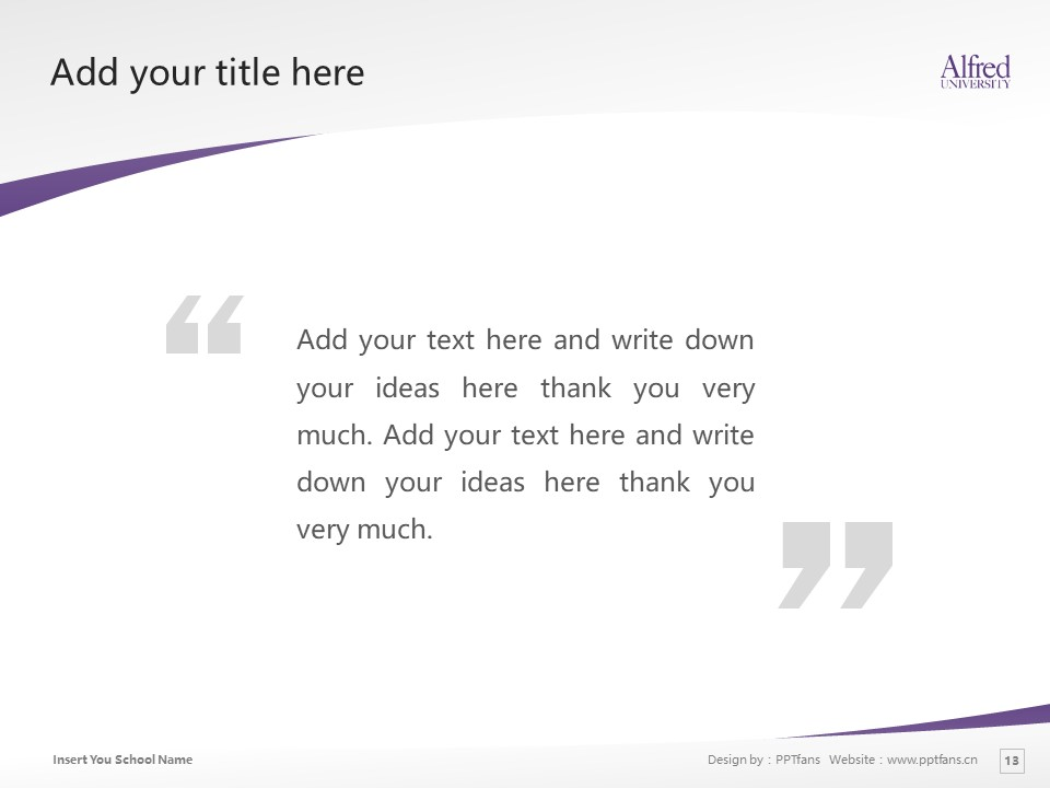 Alfred University Powerpoint Template Download | 美国艾尔佛雷德大学PPT模板下载_slide13