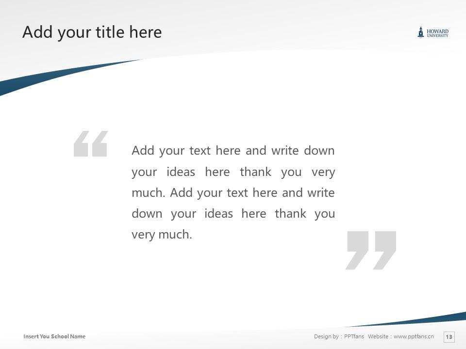 Howard University Powerpoint Template Download | 美国霍华德大学PPT模板下载_slide13