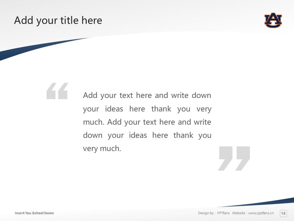 Auburn University Powerpoint Template Download | 美国奥本大学PPT模板下载_slide13