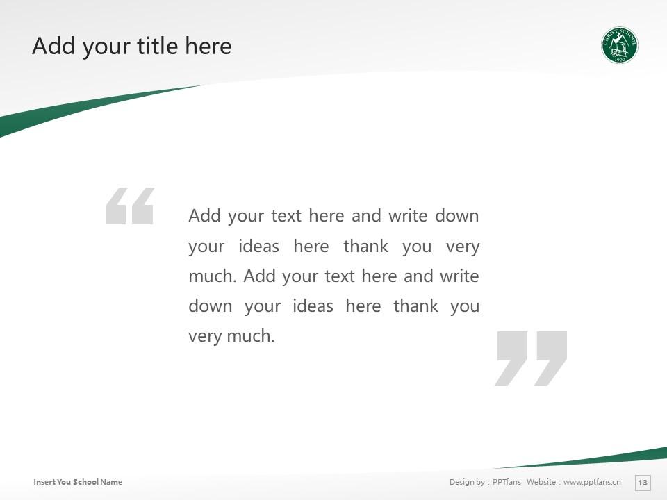 Christ School Powerpoint Template Download | 基督中学PPT模板下载_slide13