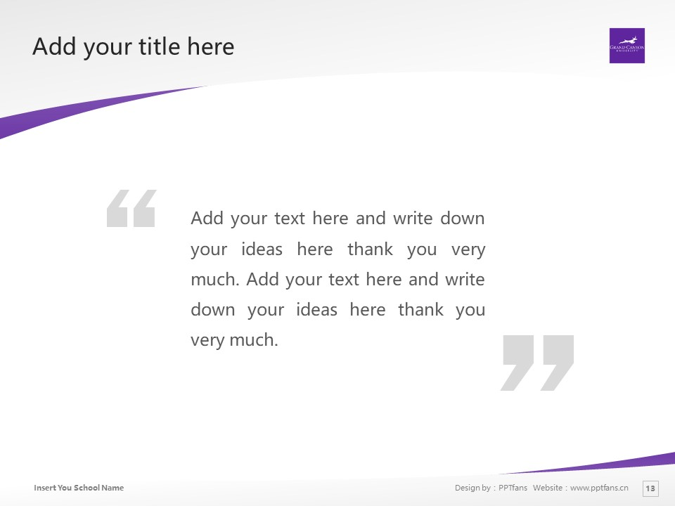 Grand Canyon University Powerpoint Template Download | 大峡谷大学PPT模板下载_slide13