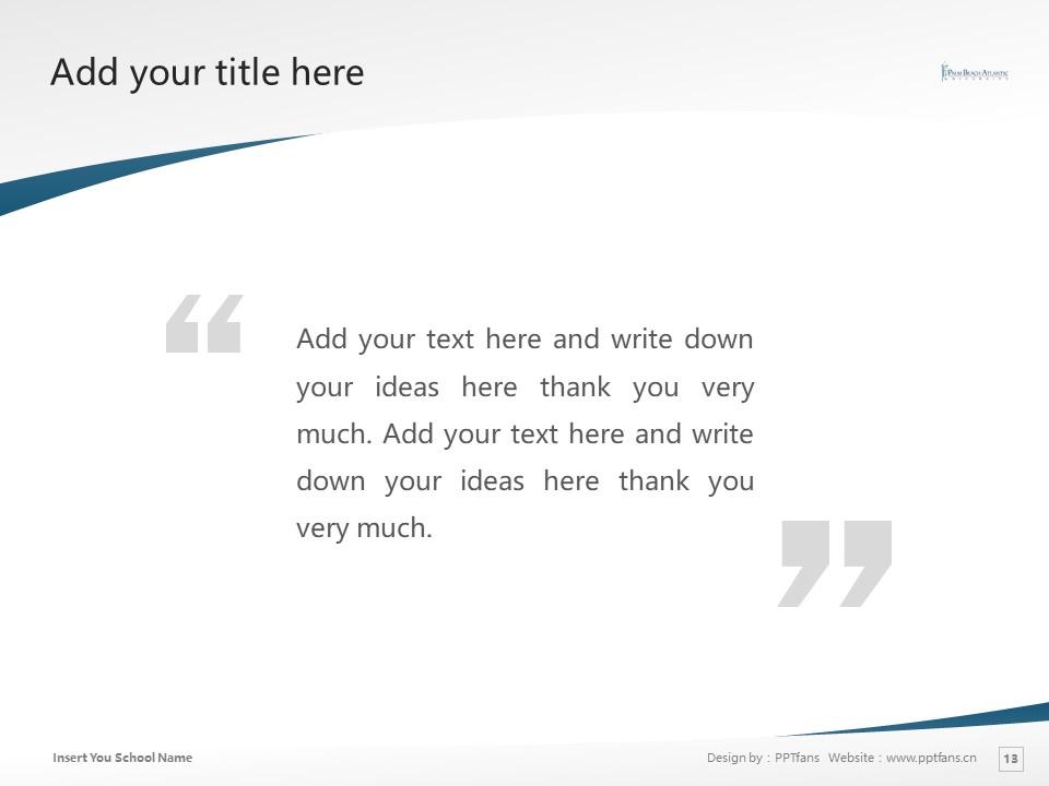 Palm Beach Atlantic University Powerpoint Template Download | 棕榈海滩大西洋大学PPT模板下载_slide13