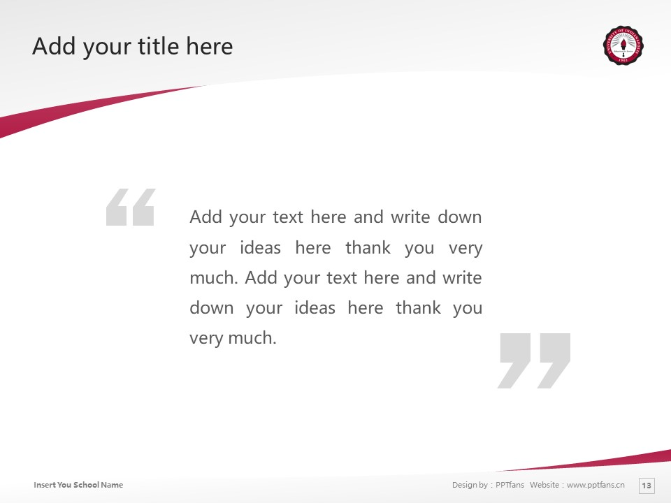 University of Indianapolis Powerpoint Template Download | 印第安纳波利斯大学PPT模板下载_slide13