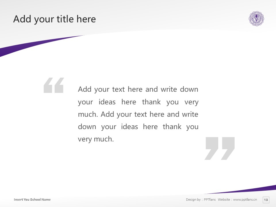 High Point University Powerpoint Template Download | 高点大学PPT模板下载_slide13