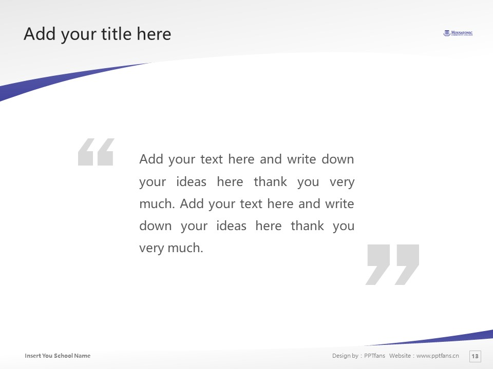 Housatonic Community College Powerpoint Template Download | 休萨托尼克社区学院PPT模板下载_slide13