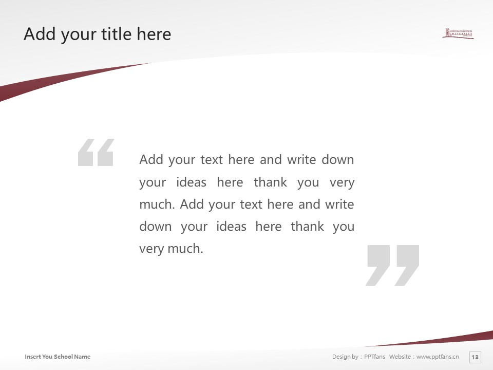 Huston-Tillotson College Powerpoint Template Download | 休斯顿蒂罗森学院PPT模板下载_slide13