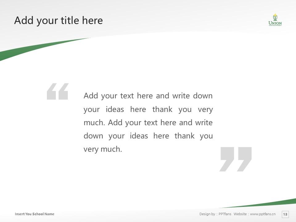 Union Institute & University Powerpoint Template Download | 辛辛那提联合学院与大学PPT模板下载_slide13