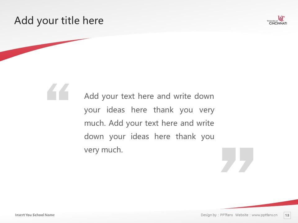 University of Cincinnati Powerpoint Template Download | 辛辛那提大学PPT模板下载_slide13