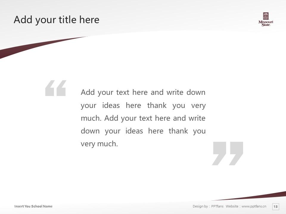 Missouri State University Powerpoint Template Download | 密苏里州立大学PPT模板下载_幻灯片13