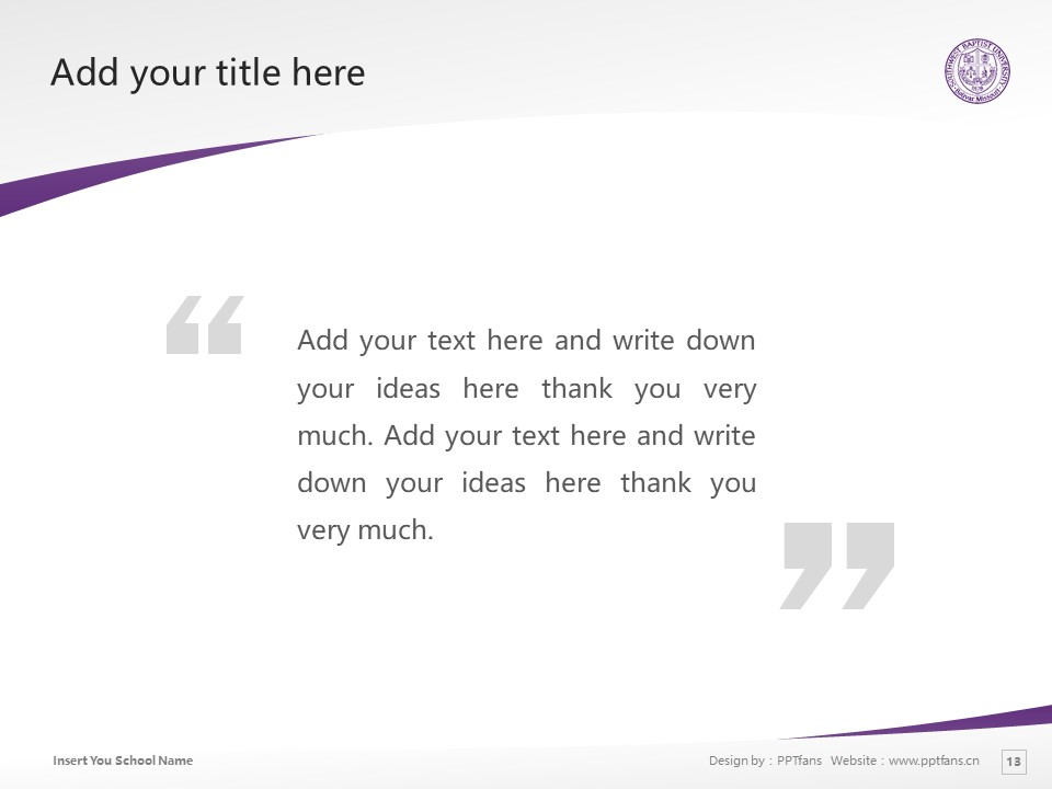 Southwest Baptist University Powerpoint Template Download | 西南浸会大学PPT模板下载_幻灯片13