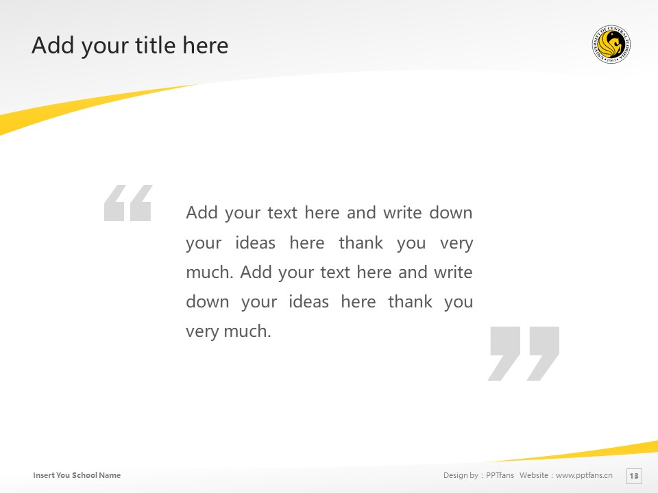 University of Central Florida Powerpoint Template Download | 中佛罗里达大学PPT模板下载_slide13