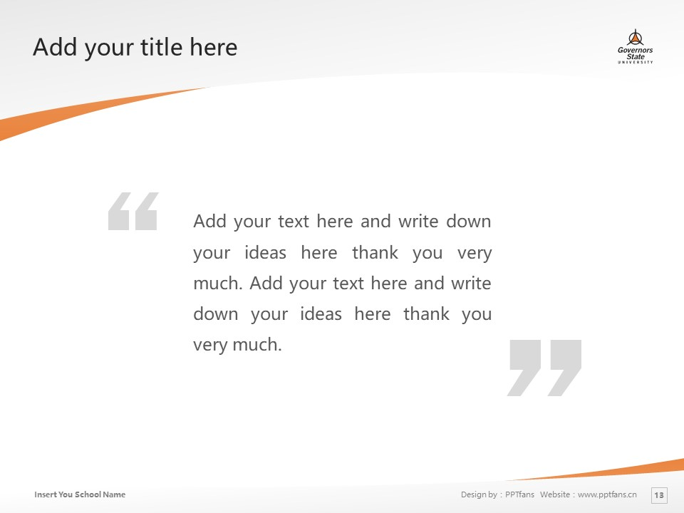 Governors State University Powerpoint Template Download | 州长州立大学PPT模板下载_slide13