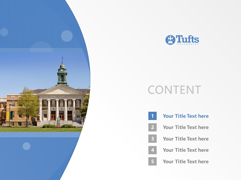 Tufts University Powerpoint Template Download | 塔夫茨大学PPT模板下载_slide2