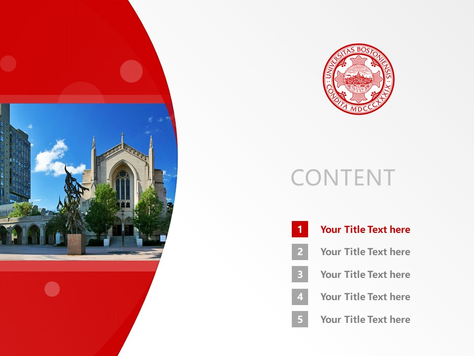 Boston University Powerpoint Template Download | 波士顿大学PPT模板下载_slide2