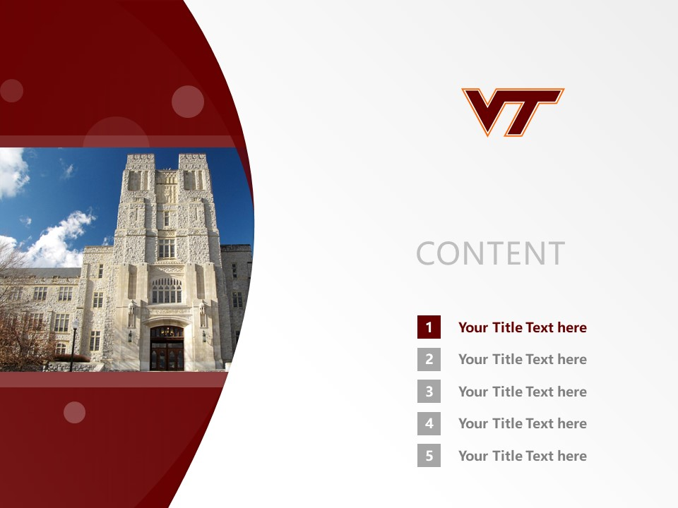 Virginia Polytechnic Institute and State University Powerpoint Template Download | 弗吉尼亚理工学院与州立大学PPT模板下载_slide2