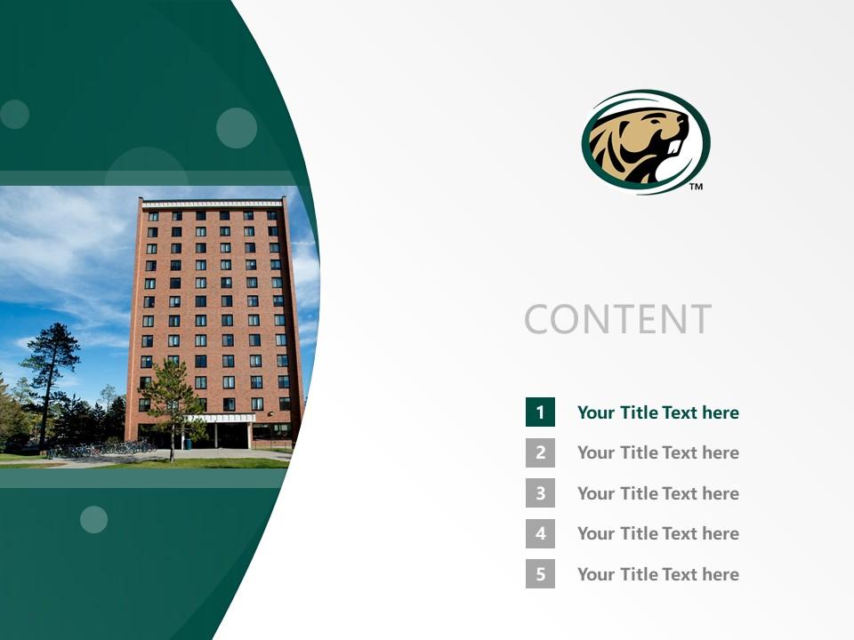 Bemidji State University Powerpoint Template Download | 明尼苏达州伯米吉州立大学PPT模板下载_幻灯片2