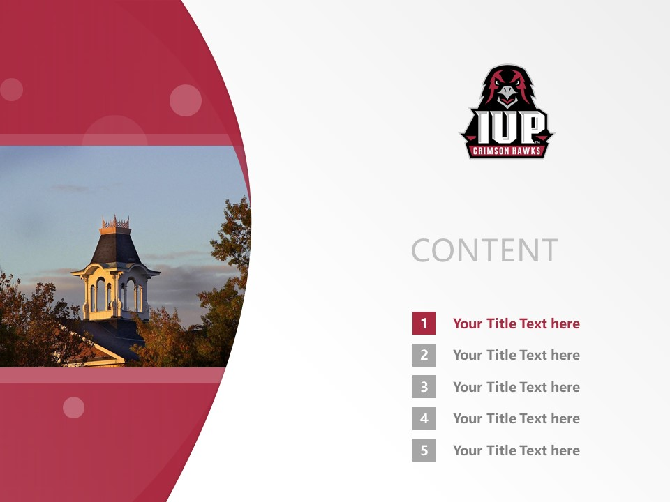 Indiana University of Pennsylvania Powerpoint Template Download | 宾州印第安那大学PPT模板下载_幻灯片2