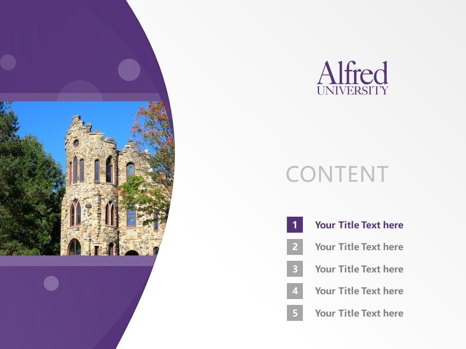 Alfred University Powerpoint Template Download | 美国艾尔佛雷德大学PPT模板下载_slide2