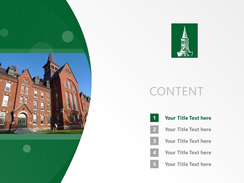 University of Vermont Powerpoint Template Download | 佛蒙特大学PPT模板下载_幻灯片2