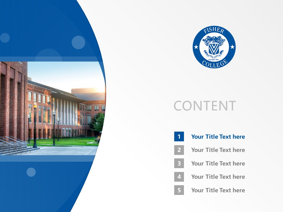 Fisher College Powerpoint Template Download | 费斯大学PPT模板下载