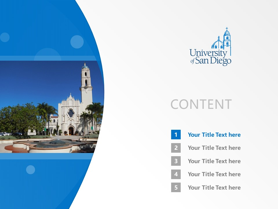 University of San Diego Powerpoint Template Download | 圣地亚哥大学PPT模板下载_slide2