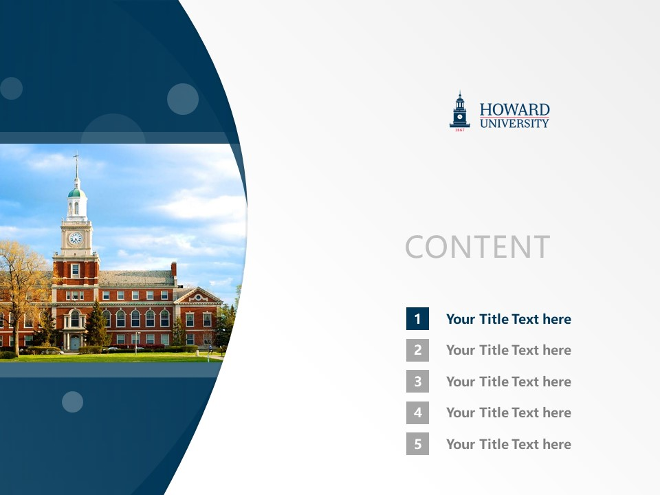 Howard University Powerpoint Template Download | 美国霍华德大学PPT模板下载_slide2