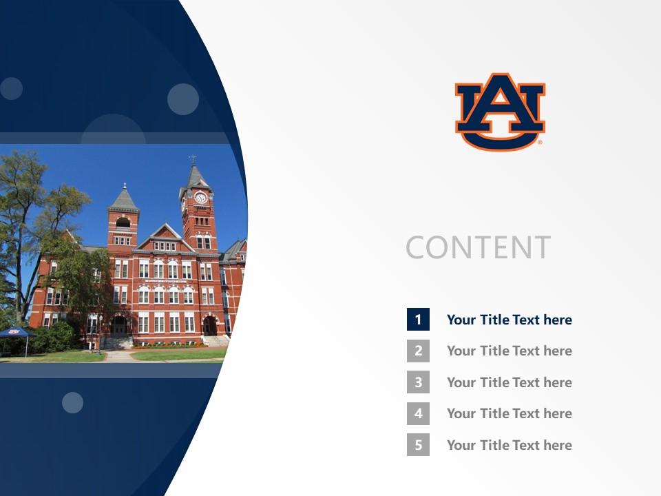 Auburn University Powerpoint Template Download | 美国奥本大学PPT模板下载_slide2