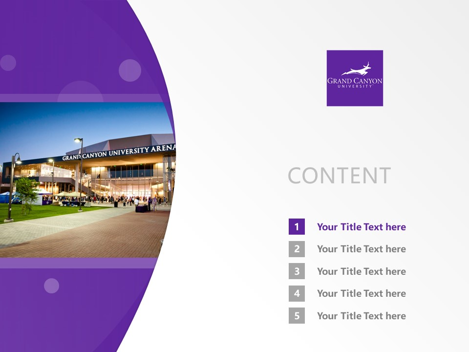 Grand Canyon University Powerpoint Template Download | 大峡谷大学PPT模板下载_slide2