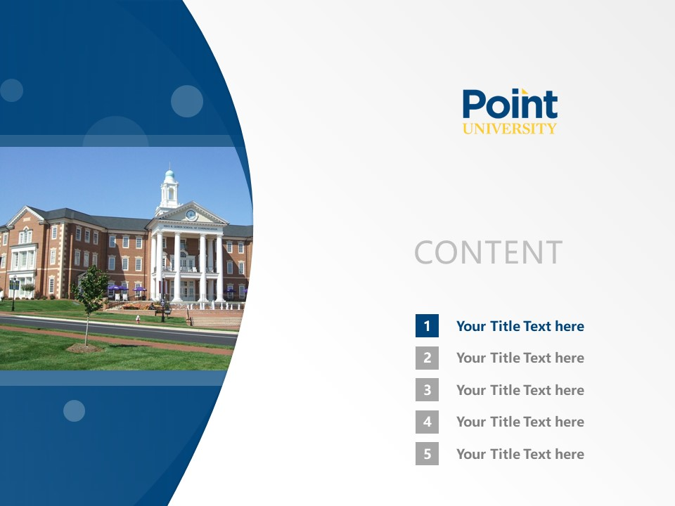 Point University Powerpoint Template Download | 亚特兰大基督教学院PPT模板下载_slide2