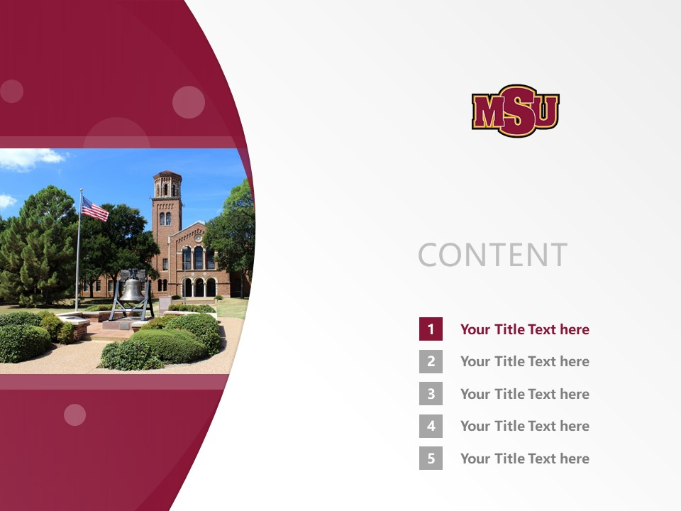 Midwestern State University Powerpoint Template Download | 中西州立大学PPT模板下载_幻灯片2