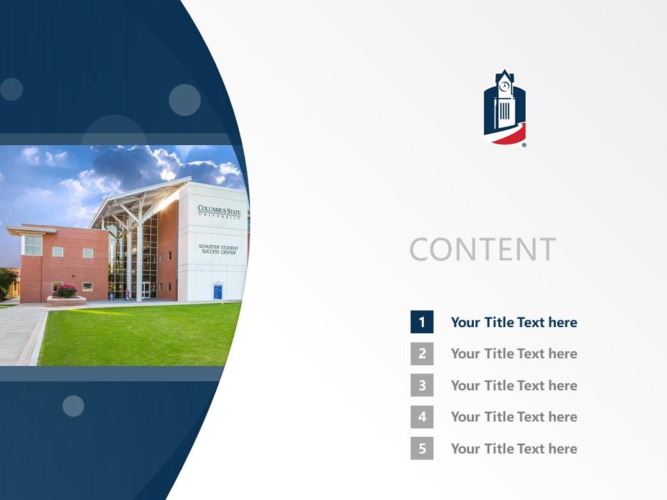 Columbus State University Powerpoint Template Download | 哥伦布州立大学PPT模板下载_幻灯片2