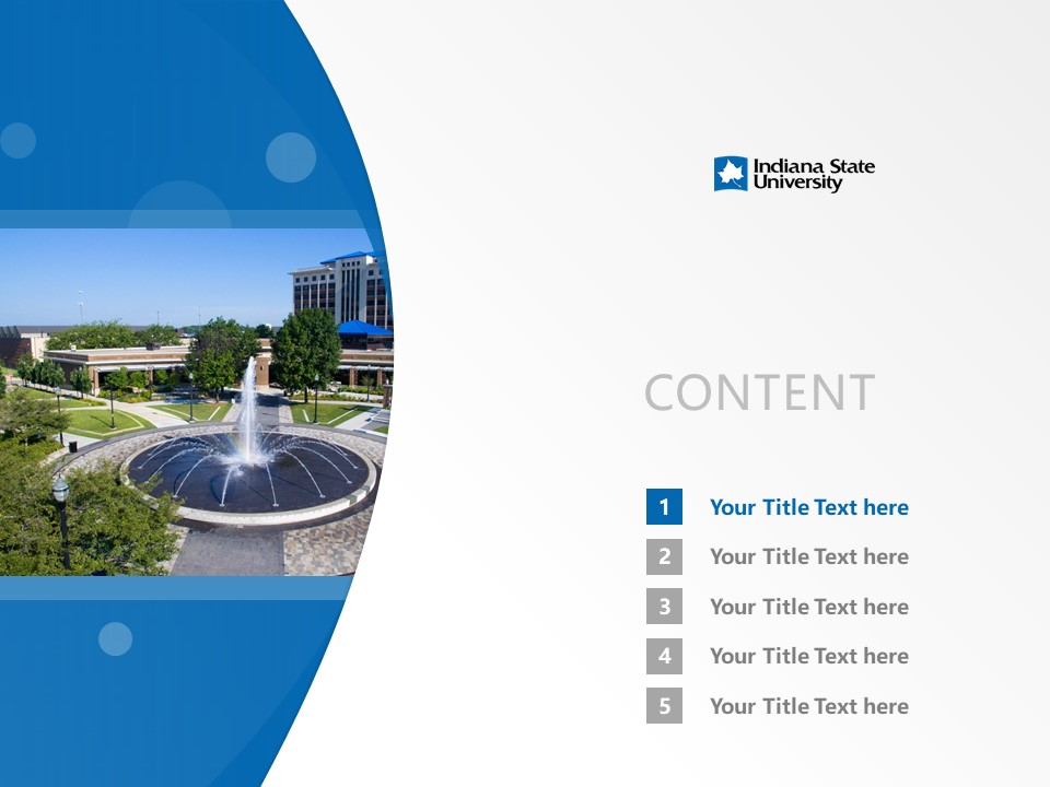Indiana State University Powerpoint Template Download | 印第安纳州立大学PPT模板下载_slide2