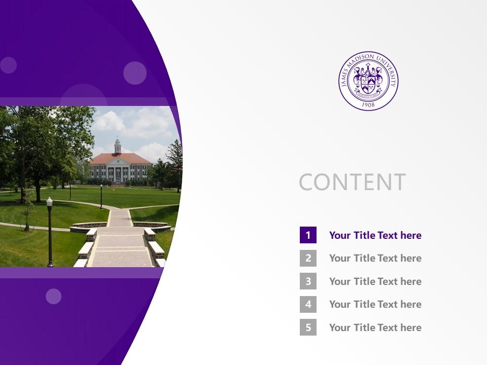 James Madison University Powerpoint Template Download | 詹姆士麦迪逊大学PPT模板下载_slide2