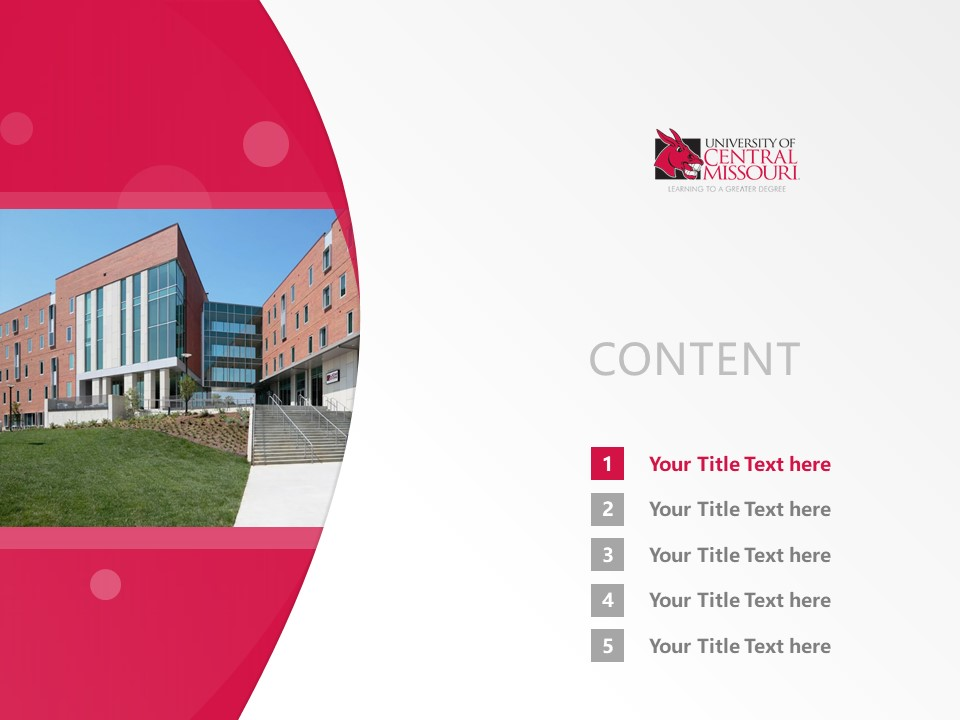 Central Missouri State University Powerpoint Template Download | 中密苏里州立大学PPT模板下载_幻灯片2