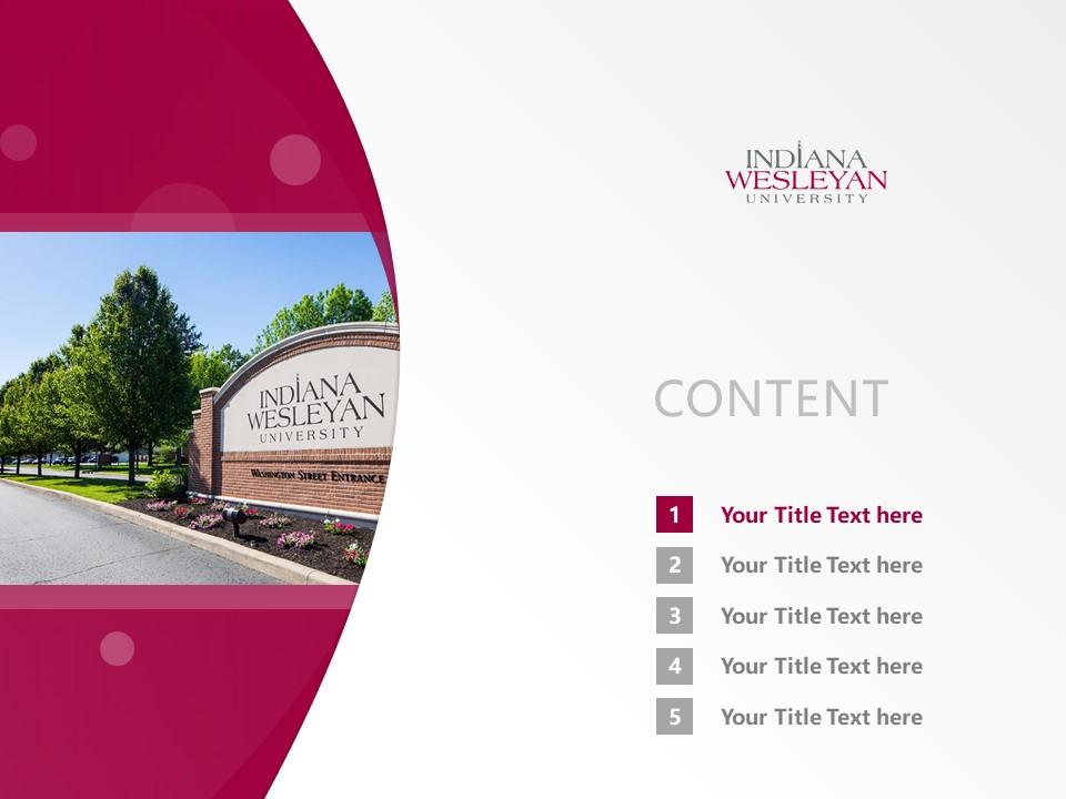 Indiana Wesleyan University Powerpoint Template Download | 印第安纳卫斯理大学PPT模板下载_幻灯片2
