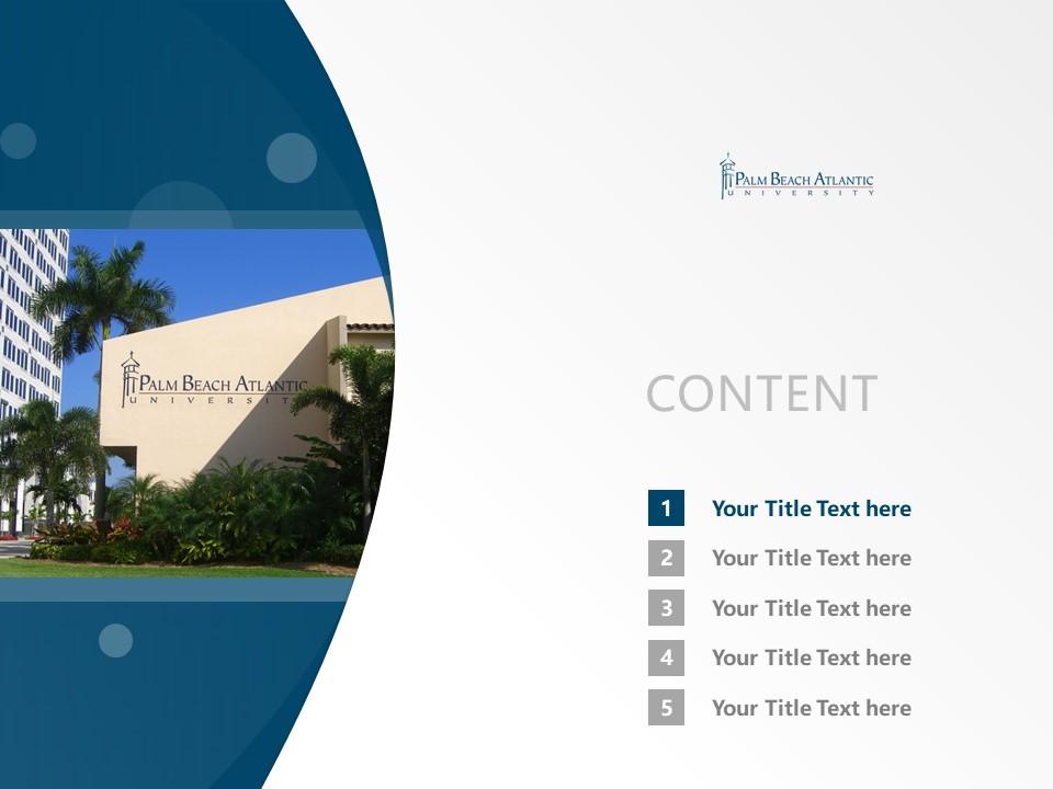 Palm Beach Atlantic University Powerpoint Template Download | 棕榈海滩大西洋大学PPT模板下载_slide2