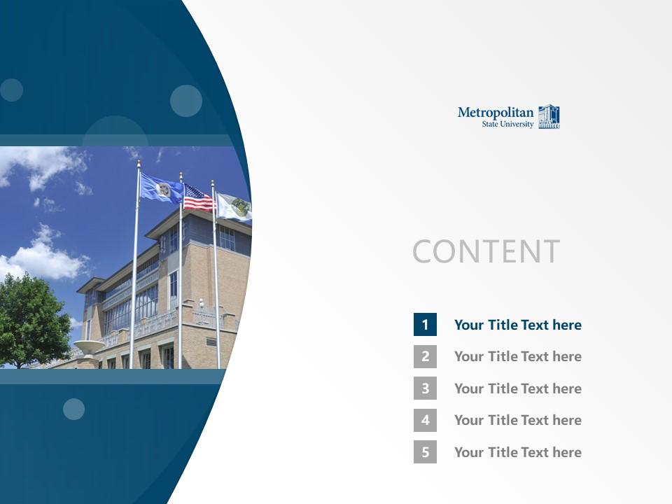 Metropolitan State University Powerpoint Template Download | 州立大都会大学PPT模板下载_幻灯片2