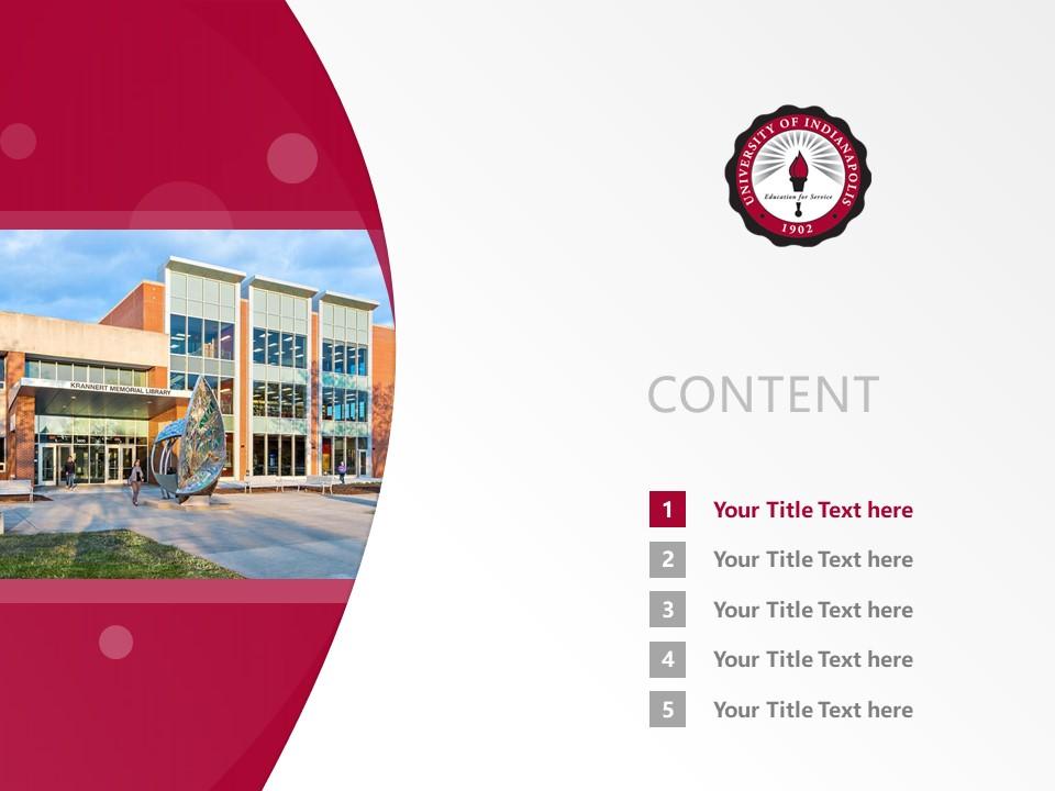University of Indianapolis Powerpoint Template Download | 印第安纳波利斯大学PPT模板下载_slide2