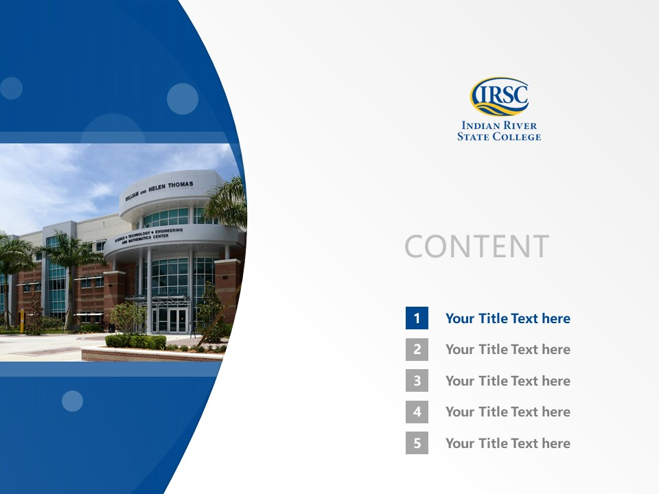 Indian River Community College Powerpoint Template Download | 印第安河社区学院PPT模板下载_幻灯片2