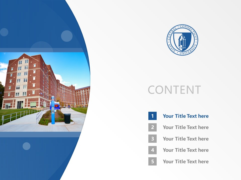 Central Connecticut State University Powerpoint Template Download | 中康涅狄格州立大学PPT模板下载_slide2