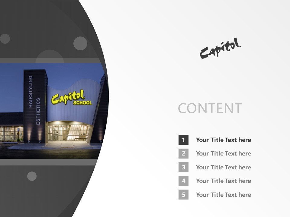 Capitol School of Hairstyling – West Powerpoint Template Download | 国会发型学校PPT模板下载_slide2