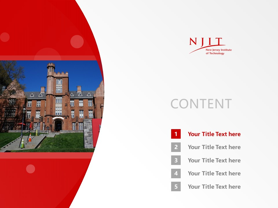 New Jersey Institute of Technology Powerpoint Template Download | 新泽西理工学院PPT模板下载_幻灯片2