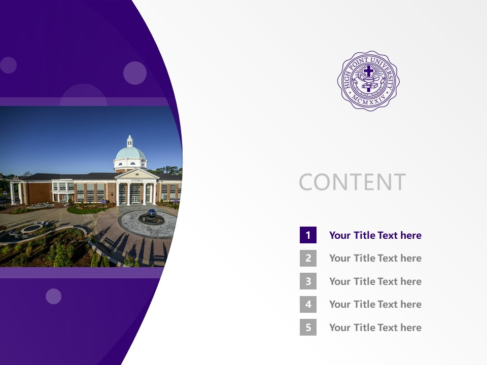 High Point University Powerpoint Template Download | 高点大学PPT模板下载_slide2